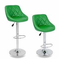 Barkrukken Groen, 2-delige set, 60-80 cm verstelbaar, 360 graden vrij draaibaar