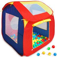 ''Tweede kans'' Kindertent, speeltent, ballenbak, inclusief 200 ballen
