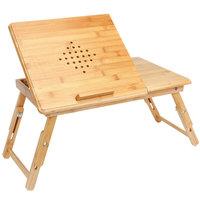 Bamboe laptoptafel met ventilatiegaten en lade, bedtafel