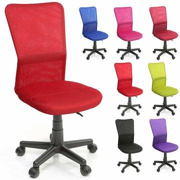 Kinderbureaustoel, rood, kinder burostoel, ergonomische kinderstoel