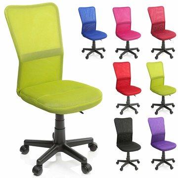 Kinderbureaustoel, lichtgroen, kinder burostoel, ergonomische kinderstoel