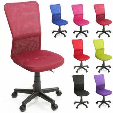 Kinderbureaustoel, wijnrood, kinder burostoel, ergonomische kinderstoel