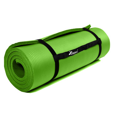 Yoga mat lichtgroen 1 cm dik, fitnessmat, pilates, aerobics