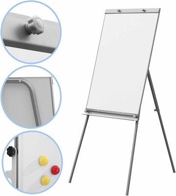 Flipchart, whiteboard, flipover, met standaard, in hoogte verstelbaar
