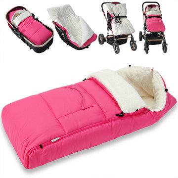 Voetenzak, roze, kinderwagen voetenzak, wintervoetenzak