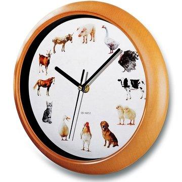 Klok met dierengeluiden, wandklok, kinderklok, dierenklok
