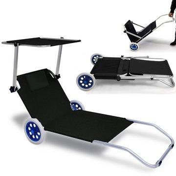 Inklapbare strandstoel met wielen,