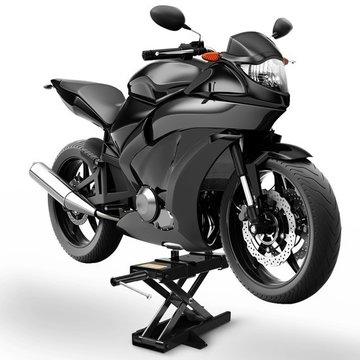 Motor bok zwart, motor steun, motor krik