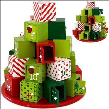 Adventskalender, Houten Kerstkalender, Kerst, Advent