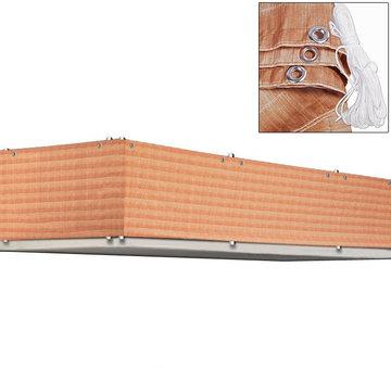 Balkonscherm, windscherm, balkon decoratie, riet structuur
