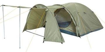 Koepeltent, tent, kampeertent, iglo tent, olijfgroen, 3-4 personen