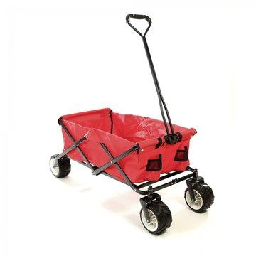 Bolderkar, transportkar, opvouwbaar, rood, offroad