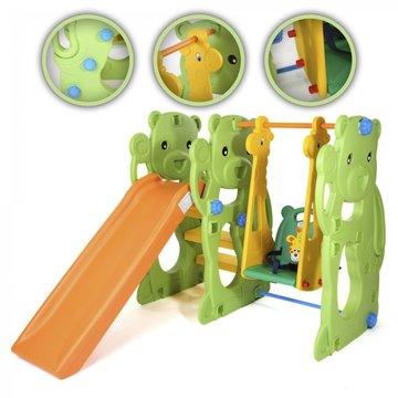 Speelparadijs, schommel, glijbaan, speeltoestel, jungle uitvoering