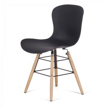 Designerstoel eetkamerstoel Neya set van 4 stuks in wit of zwart