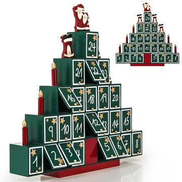 Adventskalender Houten kerstboom, piramide, Kerst, Advent