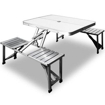 Campingtafel, picknicktafel, Aluminium blad en zitting