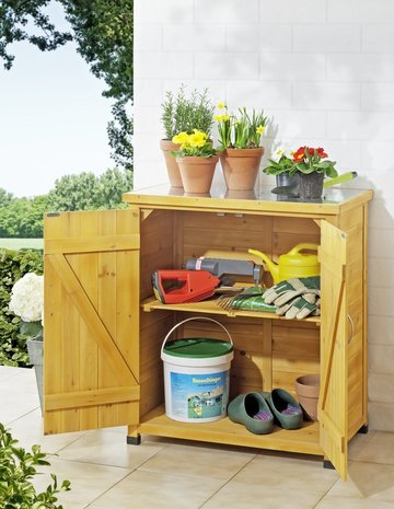 Decoratief tuinhuis voor gereedschap, tuinkast, tuinopslag