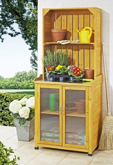 Tuinkast, gereedschapskast, oppottafel , werkblad