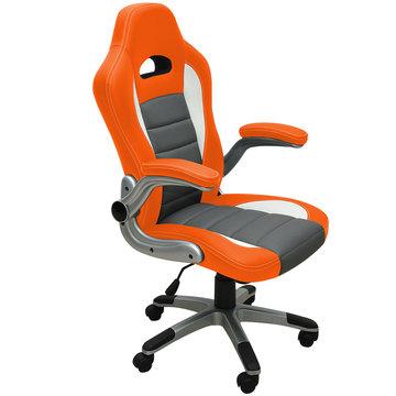 Sportstoel, Bureaustoel in sport uitvoering, grijs/ oranje