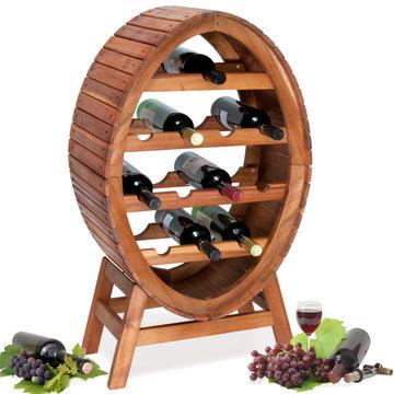 Wijnrek, ovaal voor 12 flessen