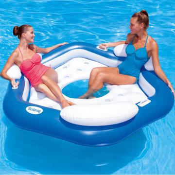 Zwembadeiland, luchtbed, opblaasbaar luchtband
