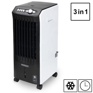 3 in 1 mobiele airco, ventilator met luchtbevochtiging en luchtzuivering