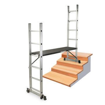 Mobiele steiger met wielen, multifunctioneel werkplatform, ladder
