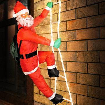 Kerstman op touwladder, kerstversiering, kerst