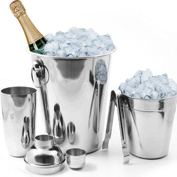 Cocktail mixer set, cocktailset inclusief champagne emmer/ wijnkoeler