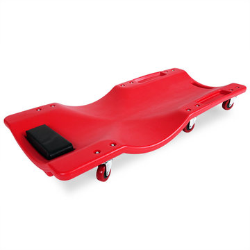 Verrijdbare ligmat, garage ligbed, werkbank, werkkruk, rolbord, rolplank, montage rolplank