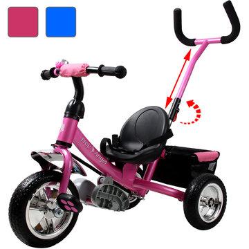 kinder driewieler met stuurstang Roze
