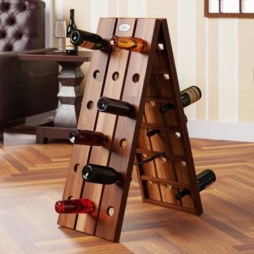 Opklapbaar wijnrek voor 36 flessen in stijlvol design