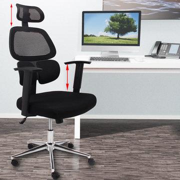 Ergonomische bureaustoel, stoel, zwart