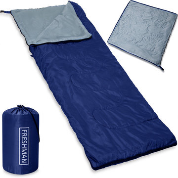 Slaapzak, lichtgewicht 800 gram, 190x75 cm , tot -6 ° C, blauw