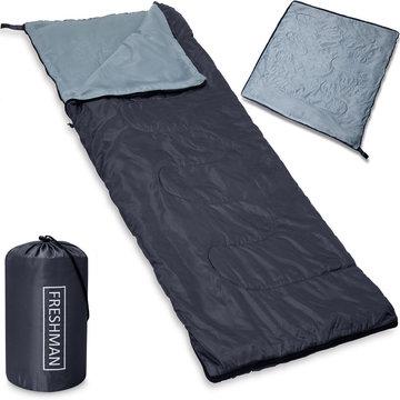 Slaapzak, lichtgewicht 800 gram, 190x75 cm , tot -6 ° C, grijs