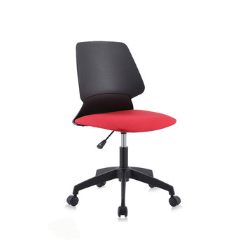 Design bureaustoel, draaistoel, zwart met rood