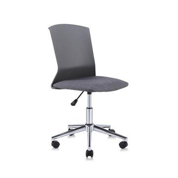 Design bureaustoel, draaistoel, zwart met grijs, hoge rugleuning