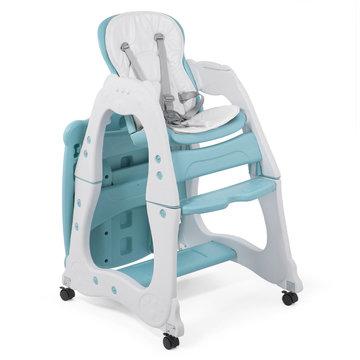 2 in 1 kinderstoel en kindertafel met stoeltje, mintgroen