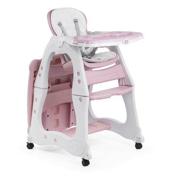 2 in 1 kinderstoel en kindertafel met stoeltje, roze