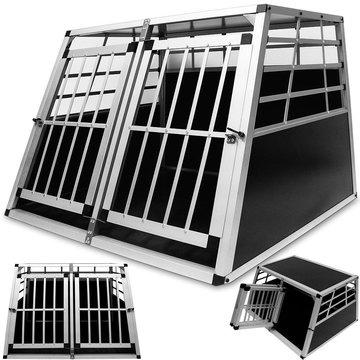 Aluminium honden transportbox, hondenbox, dubbel, 104x91 cm