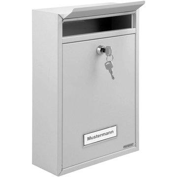 Brievenbus, postbus, mailbox, 2 sleutels, wit