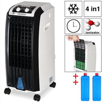 3 in 1 mobiele aircooler, ventilator met luchtbevochtiging en luchtzuivering
