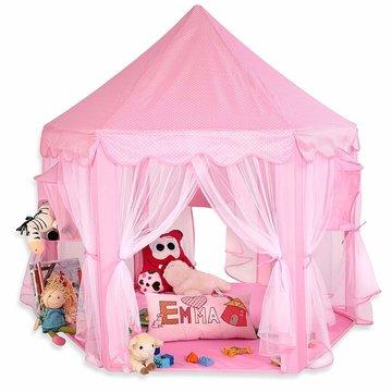 Speeltent, speelkasteel, speelslot, roze