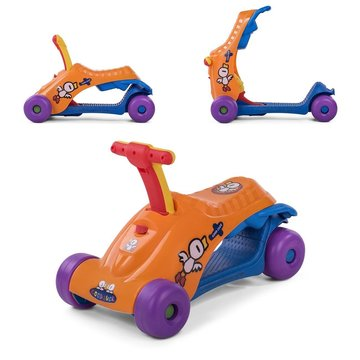 2 in 1 loopauto en step in oranje