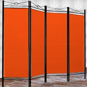 Kamerscheidingswand, kamerscherm, ruimteverdeler, oranje, scheidingswand