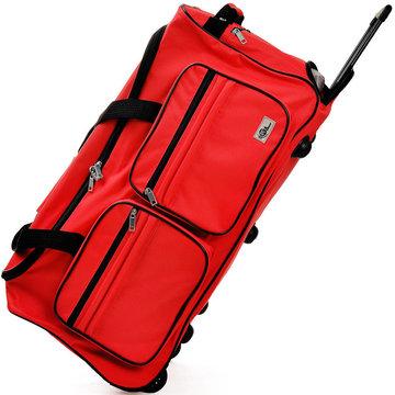 Trolley, reistas, rood, afsluitbaar, met slot, 85 liter, roltas