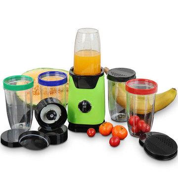 Blender met uitgebreide accessoires, 220 W, keukenmachine, hakselaar, multi mixer, smoothie maker
