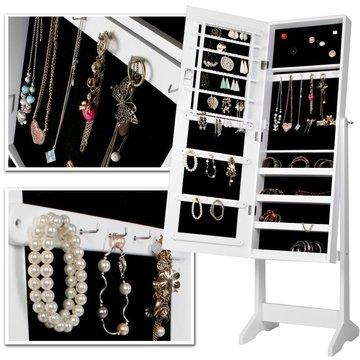 Staande spiegel, spiegelkast, sieradenkast, makeupspiegel, staspiegel, aankleedspiegel
