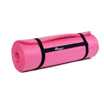 Yoga mat roze 1,5 cm dik, fitnessmat, pilates, aerobics