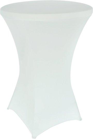 Statafelrok, wit, 80 cm, hoes voor statafel
